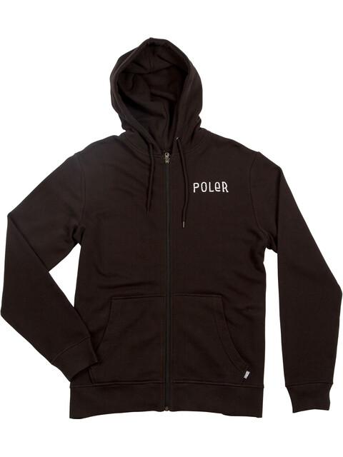 POLER Psychedelic Zip Hoodie Men Black